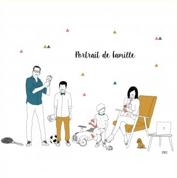 portrait de famille en dessin les petits raffineurs