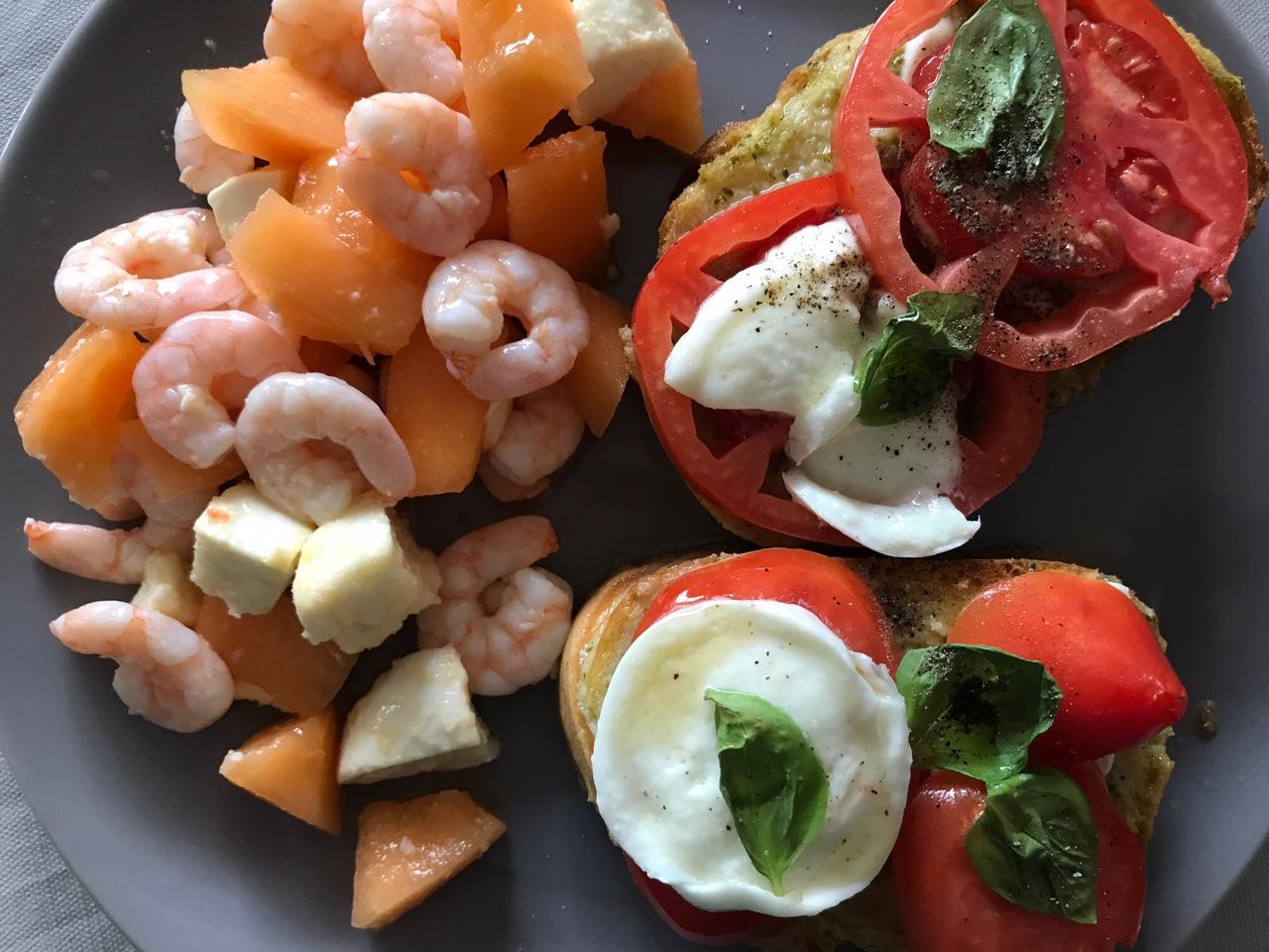 Pain perdu au pesto tomate mozza